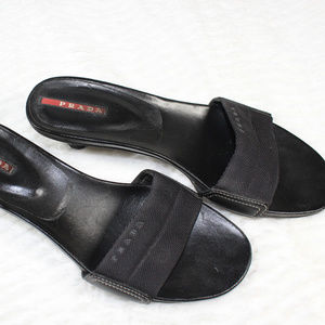 Prada Slip On Sandals